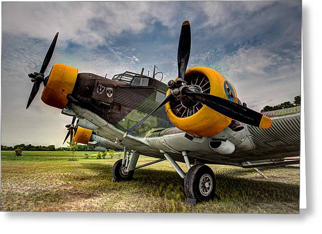Ju 52 Greeting Cards - Junkers JU-52 Greeting Card by Bill Lindsay