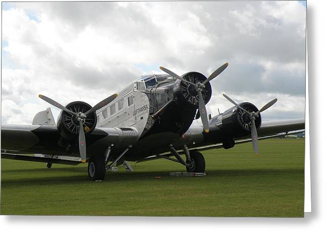 Ju 52 Greeting Cards - Junkers  JU-52 Greeting Card by Ted Denyer