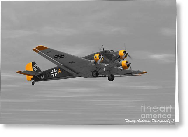 Ju 52 Greeting Cards - Junkers Ju 52 Greeting Card by Tommy Anderson