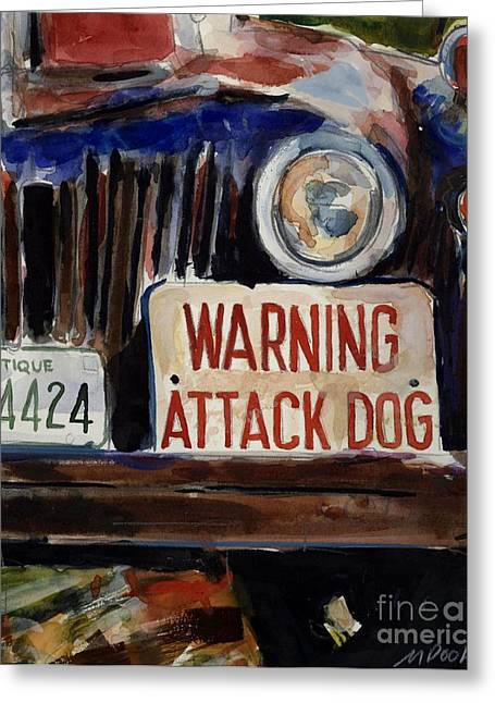 Junkyard Greeting Cards - Junkyard Dog Greeting Card by Molly Poole