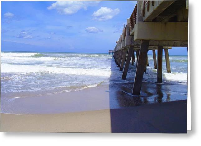 Hobe Sound Greeting Cards - Juno pier Greeting Card by Carey Chen