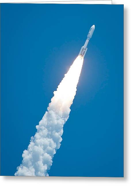 21st Greeting Cards - Juno spacecraft launch Greeting Card by Science Photo Library