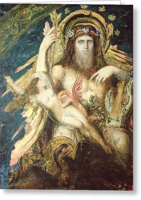 Doomed Greeting Cards - Jupiter And Semele Oil On Canvas Greeting Card by Gustave Moreau