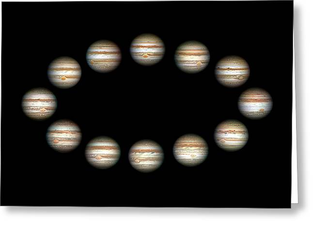 Jupiter During A Jovian Year Greeting Card by Damian Peach