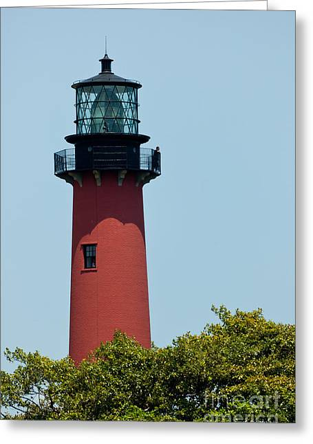 Fresnel Lens Greeting Cards - Jupiter Inlet Florida Lighthouse Greeting Card by Michelle Wiarda