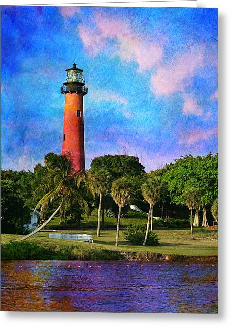 Laurarama Photographs Greeting Cards - Jupiter Inlet Lighthouse Greeting Card by Laura  Fasulo