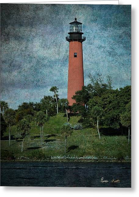 Beaming Greeting Cards - Jupiter Lighthouse-1a Greeting Card by Rudy Umans