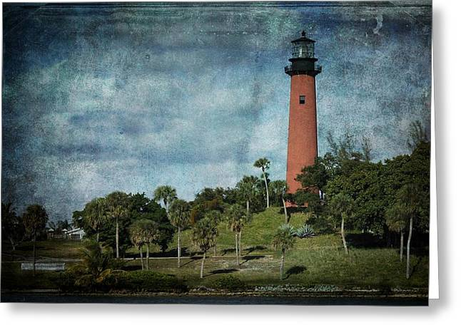 Beaming Greeting Cards - Jupiter Lighthouse-2a Greeting Card by Rudy Umans