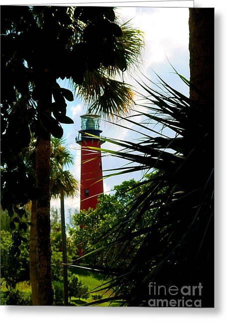 Historic Lighthouses Greeting Cards - Jupiter Lighthouse Florida Greeting Card by Susanne Van Hulst