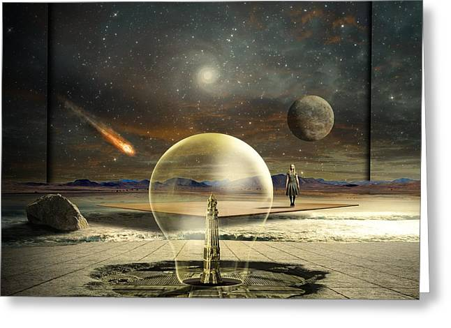 Universe Mixed Media Greeting Cards - Jupiter Session Greeting Card by Franziskus Pfleghart