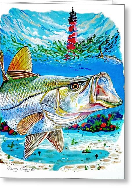 Jupiter Snook Greeting Card by Carey Chen