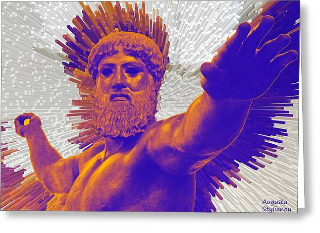 Jupiter - Zeus Greeting Card by Augusta Stylianou