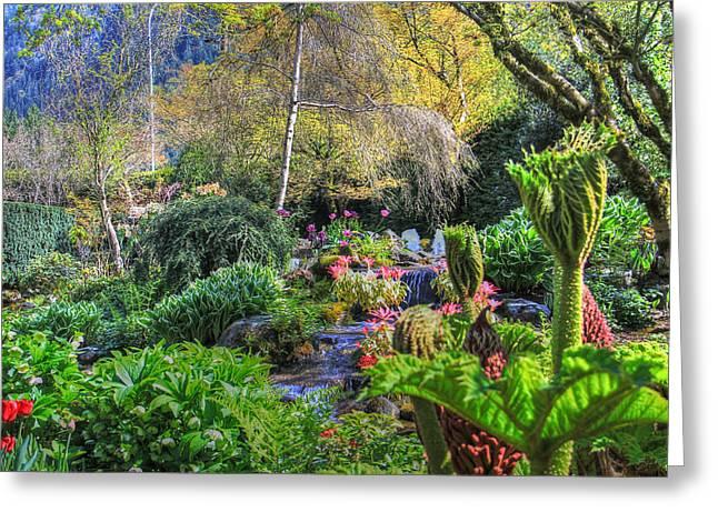 Garden Scene Digital Greeting Cards - Jurassic park gardens Greeting Card by Eti Reid