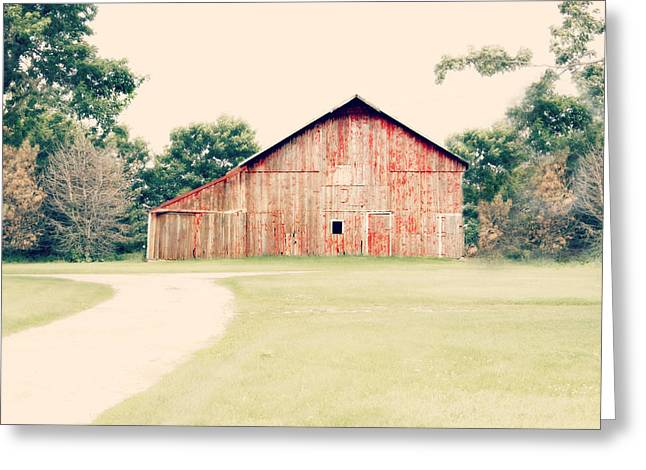 Rural Setting Greeting Cards - Just a Barn 2 Greeting Card by Julie Hamilton