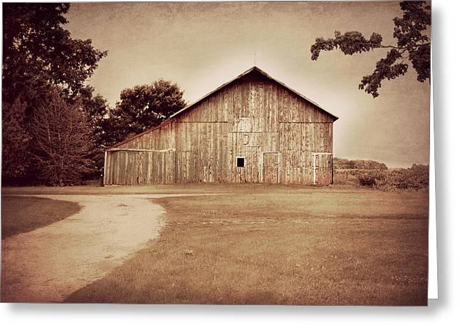 Rural Setting Greeting Cards - Just a Barn Greeting Card by Julie Hamilton