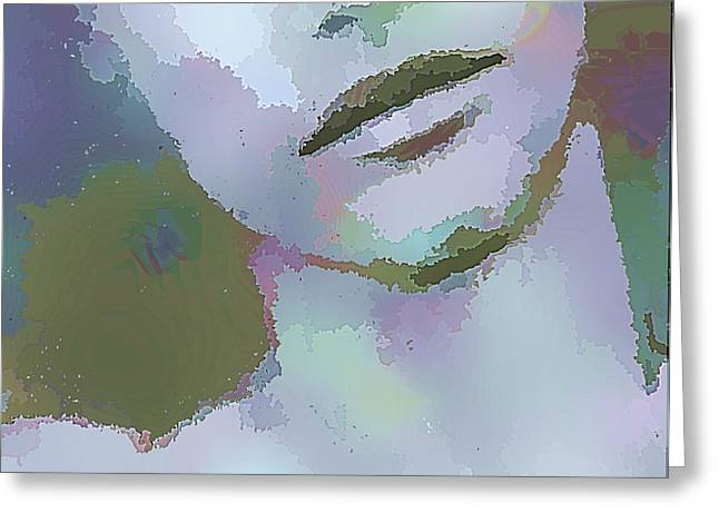 Cleft Chin Greeting Cards - Just A Boy in Color Greeting Card by Victoria Fischer