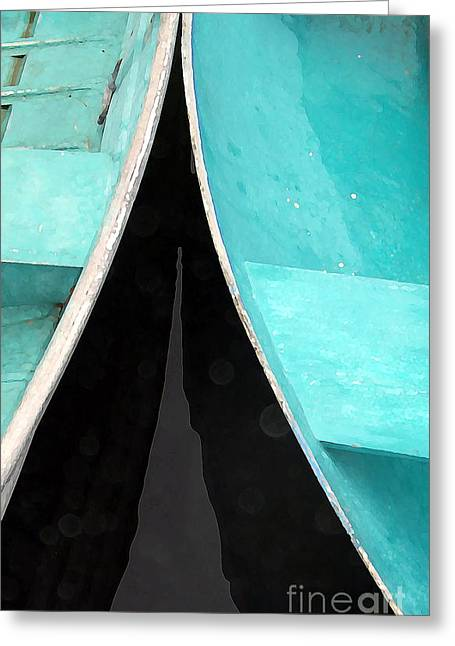 Row Boat Photographs Greeting Cards - Just a couple of dingys Greeting Card by Edward Fielding