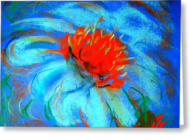 Loose Greeting Cards - Just a Flower Greeting Card by Sue Jacobi