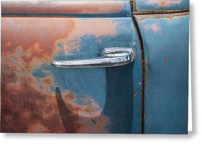 Pickup Truck Door Greeting Cards - Just a Little Wax Greeting Card by Rich Franco