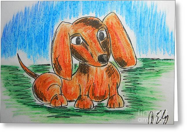 Puppies Pastels Greeting Cards - Just a Pup Greeting Card by Anastasia Ely