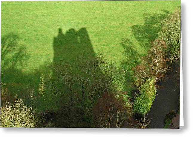 Just A Shadow Greeting Card by Kathleen Scanlan