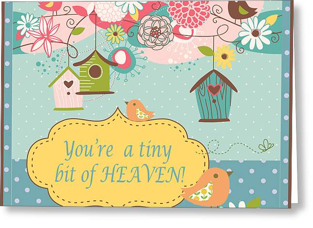 Kids Wall Art Greeting Cards - Just a Tiny Bit of Heaven Greeting Card by Jean Plout