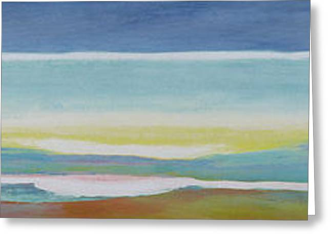 Modern Art Greeting Cards - Just Above Sea Level Greeting Card by Lou Gibbs