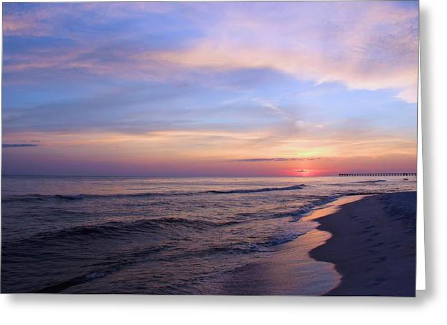Just After Sunset Greeting Card by Elizabeth Budd