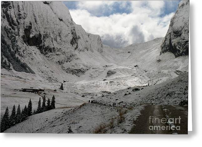 Swiss Photographs Greeting Cards - Just Ahead Greeting Card by MAK Photography