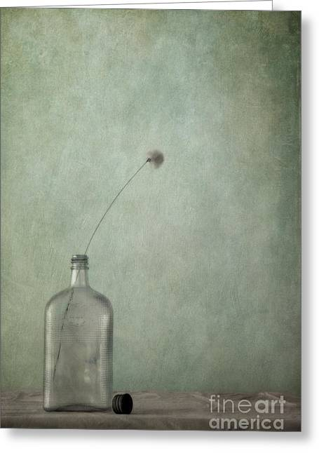 Glass Wall Greeting Cards - Just An Old Bottle And Its Cap Greeting Card by Priska Wettstein