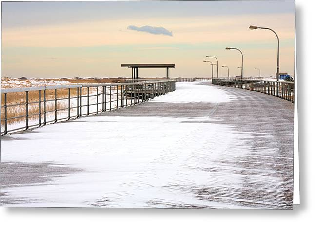 Off Season Greeting Cards - Just Another Boardwalk Greeting Card by JC Findley