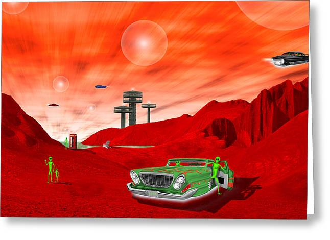 Just Another Day On The Red Planet 2 Greeting Card by Mike McGlothlen