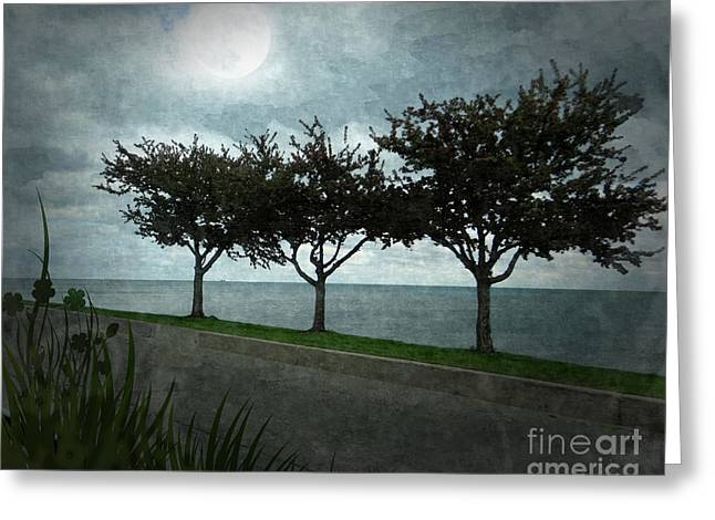 Seaside Digital Greeting Cards - Just Another Gloomy Day Greeting Card by Bedros Awak
