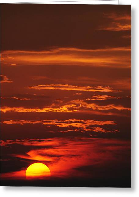 Amazing Sunset Greeting Cards - Just Another Ho Hum Sunset Greeting Card by Frozen in Time Fine Art Photography