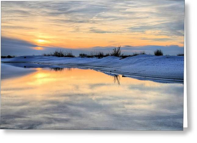 Santa Rosa Beach Greeting Cards - Just Another Parking Lot Sunset Greeting Card by JC Findley