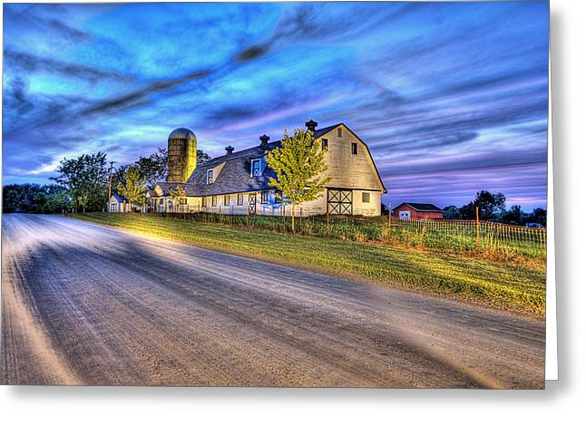 Barn Digital Greeting Cards - Just Another Summer Night In The Country Greeting Card by B And G Art