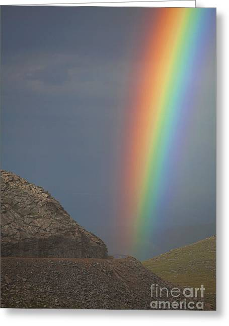 Double Rainbow Greeting Cards - Just Around the Bend Greeting Card by Jim Garrison