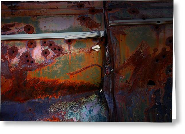 Rusted Cars Greeting Cards - Just As It Rests Greeting Card by Mark  Ross
