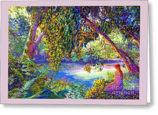 Meditation, Just Be Greeting Card by Jane Small