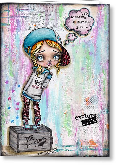Oddballartco Greeting Cards - Just Be Greeting Card by Lizzy Love