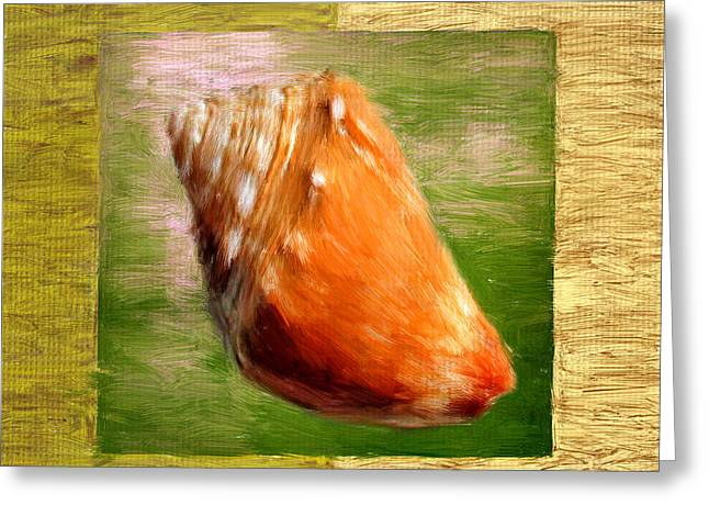 Seashell Digital Art Greeting Cards - Just Beachy Greeting Card by Lourry Legarde