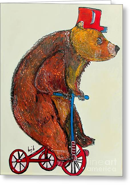 Contemporary Western Fine Art Greeting Cards - Just Bear Yourself  Greeting Card by Bri Buckley