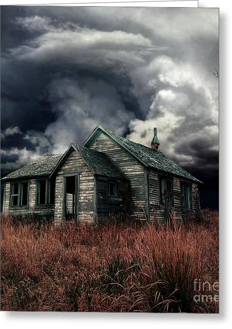 Grey Clouds Digital Art Greeting Cards - Just before the Storm Greeting Card by Aimelle
