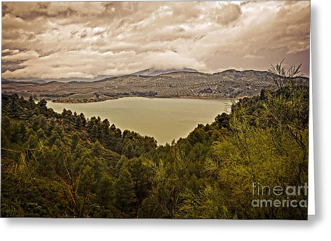 Just Before The Storm - Ardales Greeting Card by Mary Machare