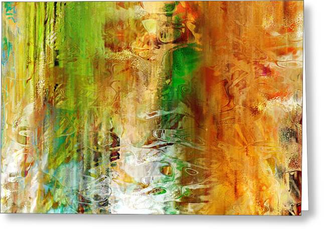 Abstract Art On Canvas Greeting Cards - Just Being - Abstract Art Greeting Card by Jaison Cianelli