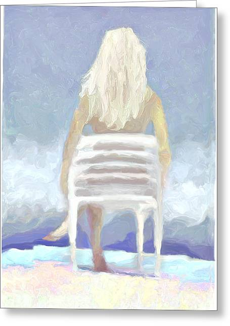 J.p. Digital Art Greeting Cards - ...just Being Greeting Card by Lee Haxton