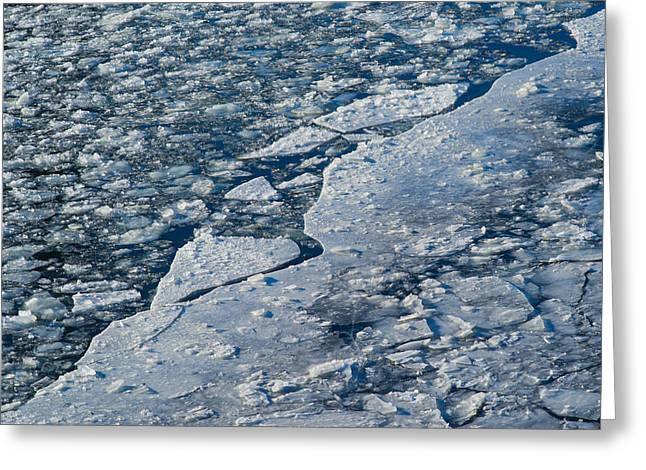Floating Ice Sheet Greeting Cards - Just Break It - Featured 3 Greeting Card by Alexander Senin