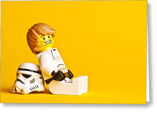 Lego Greeting Cards - Just Chillin Greeting Card by Samuel Whitton