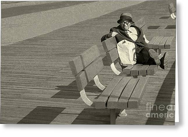 Just Chilling Greeting Card by Jeff Breiman