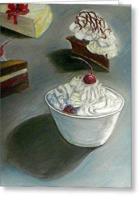 Cheeses Pastels Greeting Cards - Just Desserts Greeting Card by Steven Clayton